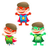 Cute heroes boy Stock Photo