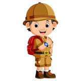 Cute hiker boy. Illustration of cute hiker boy Stock Photo