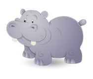 Cute Hippo. Creative Design Art of Cute Cartoon Hippo Vector Illustration Stock Photography