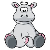 Cute Hippo Royalty Free Stock Images
