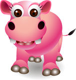 Cute hippo cartoon Stock Photos