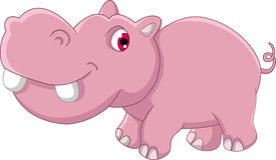 Cute hippo cartoon Stock Photo