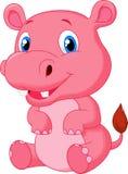 Cute hippo cartoon Royalty Free Stock Photos
