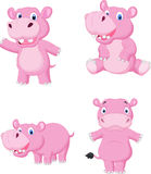 Cute hippo cartoon Royalty Free Stock Images