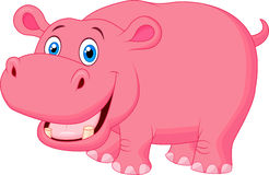 Cute hippo cartoon Stock Image