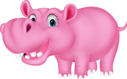 Cute hippo cartoon Royalty Free Stock Photography