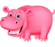 Cute hippo cartoon Royalty Free Stock Photo