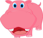Cute hippo cartoon Stock Photography