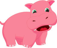 Cute hippo cartoon Royalty Free Stock Image