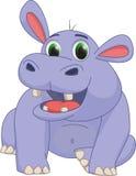 Cute hippo cartoon Royalty Free Stock Photography