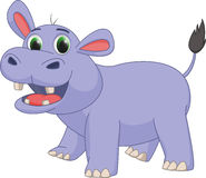 Cute hippo cartoon Stock Photography