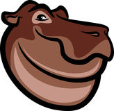 Cute Hippo Face Royalty Free Stock Images