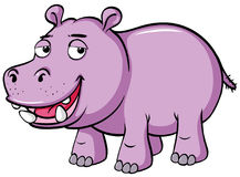 Cute hippo with sad smile Royalty Free Stock Image