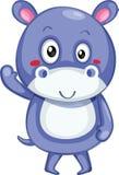 cute hippopotamus vector illustration