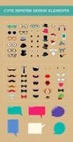 Cute hipster style design element set Royalty Free Stock Image
