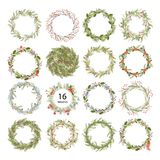 Cute hipster wreaths Stock Photography