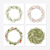 Cute hipster wreaths Stock Image