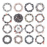 Cute hipster wreaths Royalty Free Stock Images