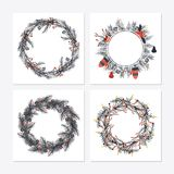 Cute hipster wreaths Royalty Free Stock Image