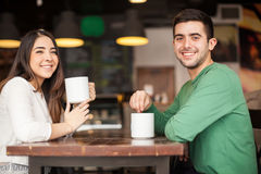 Cute Hispanic couple on a date Royalty Free Stock Photo