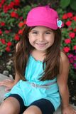 Cute hispanic little girl in hat Royalty Free Stock Images