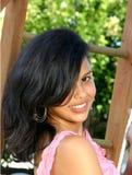 Cute Hispanic teenage girl stock photos