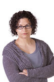 Cute Hispanic Woman with her arms crossed Royalty Free Stock Photos