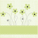 Cute holiday background  flowers. Cute holiday background with abstract hand drawn flowers Royalty Free Stock Images