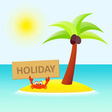 Cute holiday crab Stock Photo