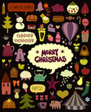Cute holiday elements Royalty Free Stock Photos