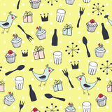 Cute holiday seamless pattern Stock Photography