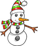 Cute Holiday Snowman Vector Stock Photo