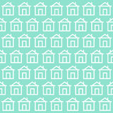 Cute home background pattern. with design backdrop. Vector Illus. Tration. on blue background Royalty Free Stock Photo