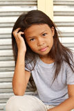 Cute homeless child Royalty Free Stock Photo