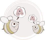 Cute honeybee Stock Photos