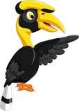 Cute horn bill cartoon waving. Illustration of cute horn bill cartoon waving Royalty Free Stock Photo