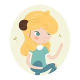 Cute horoscope - aries. Royalty Free Stock Image