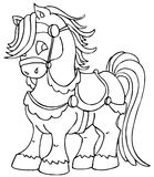 Cute horse. Cute little horse in line art Royalty Free Stock Photos