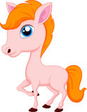 Cute horse cartoon Stock Images