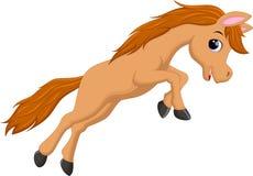 Cute horse cartoon jumping Royalty Free Stock Image