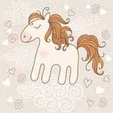 Cute horse Stock Images