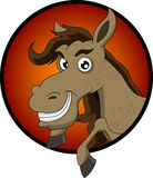 Cute horse head cartoon Royalty Free Stock Images