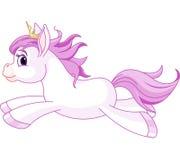 Cute horse princess running Stock Photos