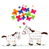 Cute horses Royalty Free Stock Images