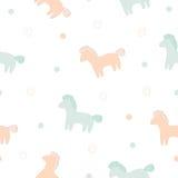 Cute horses vector print Royalty Free Stock Image