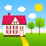 Cute house Stock Photography
