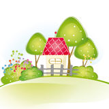 Cute house Royalty Free Stock Images