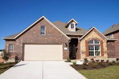 Cute house brick stone blue sky Royalty Free Stock Photo