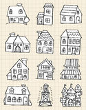 Cute house draw Royalty Free Stock Photo