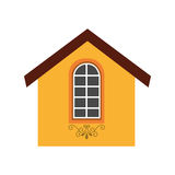 Cute house exterior icon. Vector illustration design Royalty Free Stock Photo